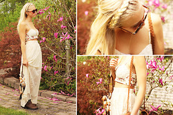 Fanny Larsson - River Island Lace Maxiskirt, Asos Minibustier, Jc Roundie Shades - Braid my hair, darling