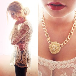 Nesairah Nesstyle - Sheinside Lace, Choies Tiger - LACE & GOLD TIGER