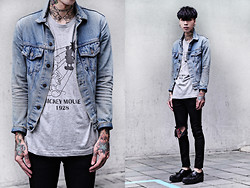 IVAN Chang - Uniqlo Micky Short, Levi's® Vintage Jacket, Topshop Skinny - 210513 TODAY STYLE