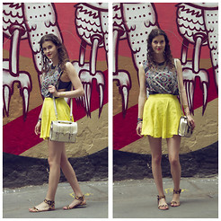 Mia M - H&M Skirt, Asos Bag - Crazy patterns