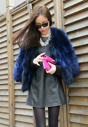 Willa Liu - Hermës Clutch, Mawi London Necklace, Ray Ban Sunglasses, Maison Martin Margiela Leather Dress - Only know you love her when you let her go.