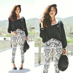 Heliely Bermudez - H&M Tribal Pants, Zara Strap Pointed Heels - Pulling Out the Tribals