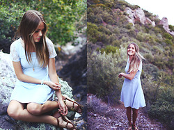 Heather Bybee - Kristine's Collection Blue Lacy Dress, Forever 21 Pendant, Q Sandals - A day in the mountains