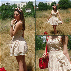 Vicky Ath - Mango Dress, Zara Red Bag - Feel the summer