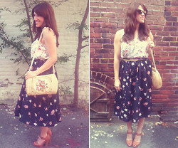 Christen L - Sugarlips Floral Top, Thrifted Floral Skirt, Charlotte Russe Platforms - Hand me down tune