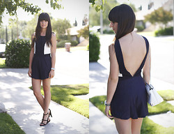 Casey David - Finders Keepers The Label Playsuit, Asos Heels, Zara Bag - Wake Me Up