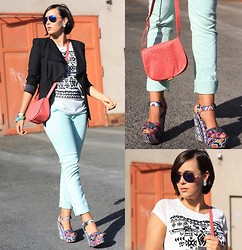 Sassi . - Primark Shirt, Cross Jeans Pants, Steve Madden Wedges, Blazer - Mint pants