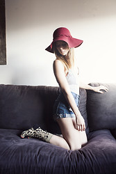 Michelle Madsen - Nasty Gal Leotard, One Teaspoon Shorts, Stance Stocks Socks - LOUNGING
