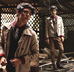Vini Uehara - Guidomaggi Milano Boots, Cothing Loves Clothing Coat - Time means nothing