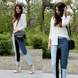 Mary G. - 3.1 Phillip Lim Pant, Proenza Schouler Bag, Zara Wedges - Patchwork