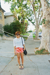 Yuka I. - Christian Dior Cat Eye Sunglasses, Alexander Wang Shirt, Bdg Tie Dye Cut Offs, Rachel Zoe Sandals - Casual friday