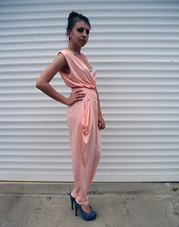 Marina Petrova - Vmzona Jumpsuit, Handmade Shoes, Diy Bra - Peach