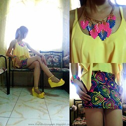 R.A. Basilan - Ai Fashion Necklace, Ifassion Highfashion Top, Ifassion Highfashion Skirt, Vivienne Westwood Jelly Wedge - A Colorful Heart ♥♥♥