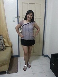 Leign Gamit - People Are Chiffon Blouse, Forever 21 Skort, Charles & Keith Jeweled Sandals - Shine bright like a diamond!!!