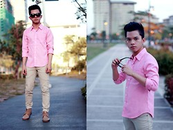 Evelio Barion - Topman Top, Artwork Pants, Itti Shoes - Pink