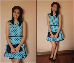 Trina Marie Ledesma - Forever 21   Polka Dot Dress, Red Hat, Bag, Shoe Box   Doll Shoes - I'm Dreaming of Paris