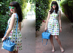 Fashion Pea - Zara Palm Print Dress, Givenchy Shoulder Bag - Wedding season
