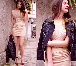 Nicoleta Buru - Roccobarocco Jacket, Babassu Dress, Zara Heels - My soul is nude in front of you
