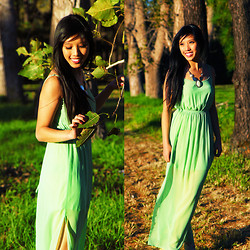 Wendy La - Forcast Chiffon Maxi Dress - Grass is sometimes greener where you are