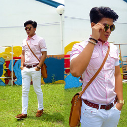 Charles G. - Levi's® White Pants, Fossil Golden Watch, Divisoria Pink Shirt - VABEC 49th Anniversary