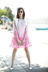 Lady Fur Welovefur - Manoush Dress, Annie P Fur Gilet, Samantha De Reviziis Cat Ears - Lady Fur in Greece