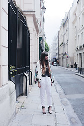 Marion H - Jennyfer Pants, Choies Teddy, Zara Sandals, Obey Top - White Obsession