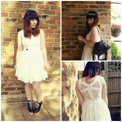 Carmen Ri - Asos White Dress, Wholesale Dress.Net Sparkle Cap, Deandri Black Helgas - Sparkle