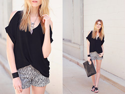 Blair B - Rd Style Shorts, Lush Top, Report Shoes Sandals, Cheap Monday Bag - Party shorts.