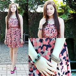 Caitlin Roxette - Forever 21 Dress, Aldo Studded Bracelet - Tons of leaves