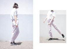 Filipa F. - Primark T Shirt, Warehouse Trousers, Nike Sneakers - Twisting In Lilac