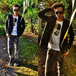 Earth Sagun - Penshoppe Field Jacket, F&H Faded Jeans, Link Graphic Tee, Dog Tag, Dc Shoes - BIPOLAR WEATHER