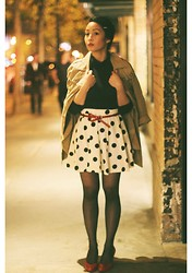 Dez Offril - J. Crew Turtle Neck, Cotton On Polka Dot Bell Skirt, Ambiance Sf Trench Coat - Dalmations