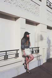 Marion H - Warehouse Jacket, Zara Skirt, Stradivarius Sandals, Asos Cap - ABSTRACT