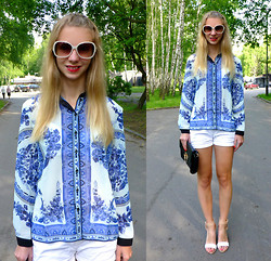 Ania Zarzycka - Choies Shirt, Choies Sandals, Firmoo Sunglasses - Orient