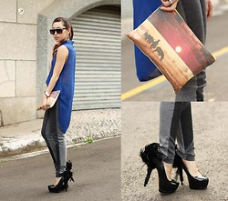 Kryz Uy - Romwe Leggings, Love Clutch - Frills Form and Function