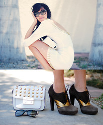 Gabirul C - Nasty Gal White Dress, Stuart Weitzman Shoes - And a real hero
