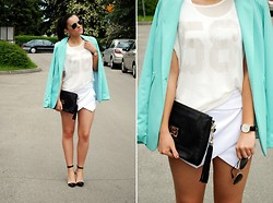 Anna K - Romwe Top, Sheinside Shorts, Wholesale Dress Shoes, Daniel Wellington Watch, Guess? Bag, Zerouv Sunglasses - Elegance