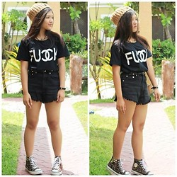 Glaiza Homez - Shoplvst Top`, Invogue Shorts, Shoplvst Shoes, Terranova Bonnet - Leggo