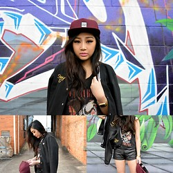 Kiki Nicole Suen - Passport Cap, Stüssy Bomber Jacket, Lee Tank - You make me hazy