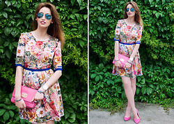 Tanya Petrova - Laksmi Design Dress, Giorgio Armani Watches, Dkny Bracelet - MY FLORAL DRESS