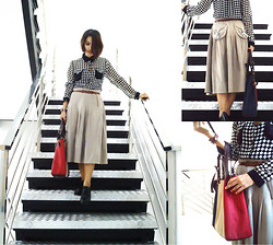 Cy Rasella - S2 Vintage Shirt, S2 Strip Bag - Go down through silver stairs