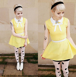 Kate G - Primark Tights, Topshop Socks, Vintage Shoes, Choies Dress - Feeling sunny