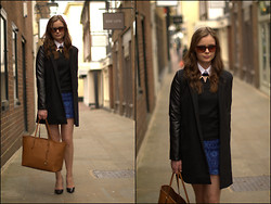 Arabella M - Vjstyle Coat, Topshop Jumper, Zara Skirt - Brunch isn't brunch without a belini