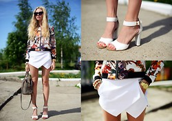 Valeriia Volkova - Sheinside Jacket, Sheinside Skort - SUMMER TIME/ GIVEAWAY