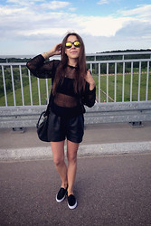 Anna R - River Island Shoes - BLACK OUTFIT!