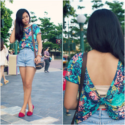 Hannako Ngohayon - Forever 21 Top, Thrift Store Short, Suprafame Loafers, Coach Bag - Back Revelation