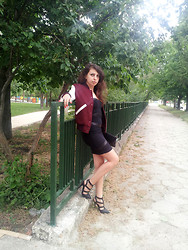 Marina Petrova - American College Jacket, Tally Weijl Dress, Gina Tricot Heels, Diy Clutch Bag - College Jacket