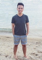 JP Dela Cruz - Uniqlo Basic Tee, Cotton On Monaco Shorts - If our love's insanity, why are you my clarity?