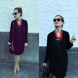 Tu Personal Shopper By Marta Antolinez - Blanco Necklace, Zara Dress, Zara Bag, Zara Python Stiletto - Shirtwaist dress!!!