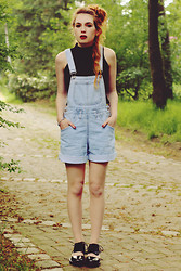 Silvy De Jong - Thrift Store Overalls, River Island Crop Top, Jeffrey Campbell Shoes - Take a chance, you never know what might happen